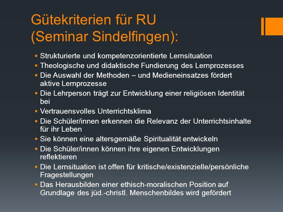 Gütekriterien für RU (Seminar Sindelfingen):