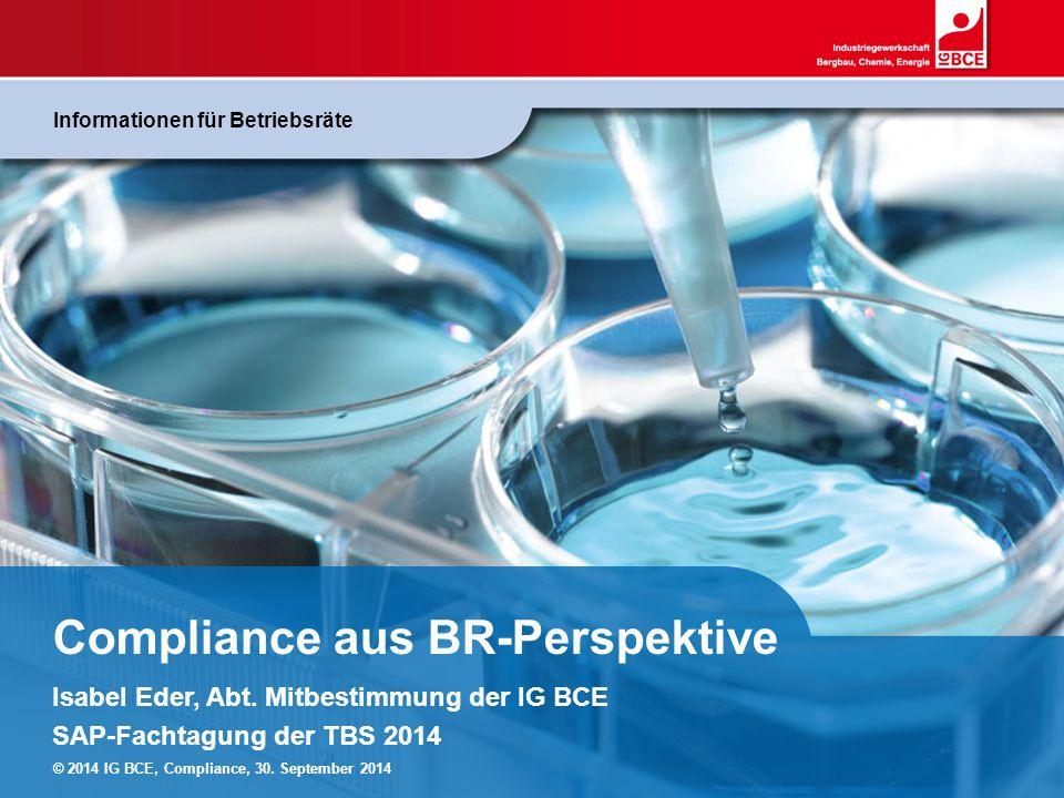 Compliance aus BR-Perspektive