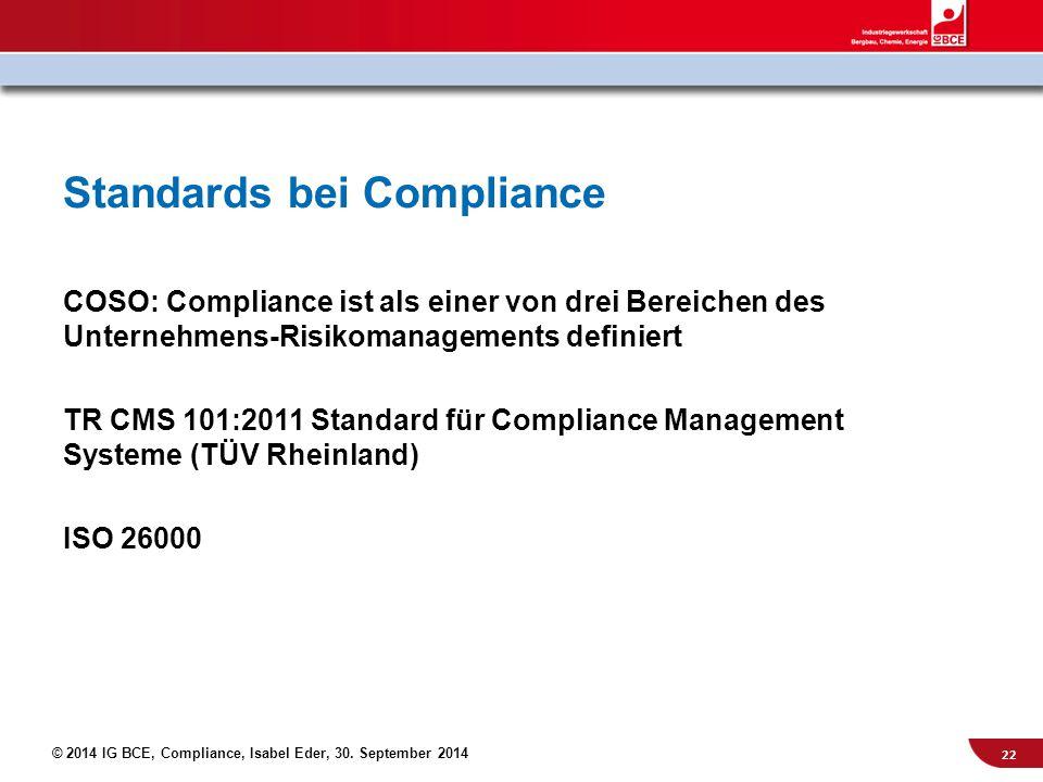 Standards bei Compliance