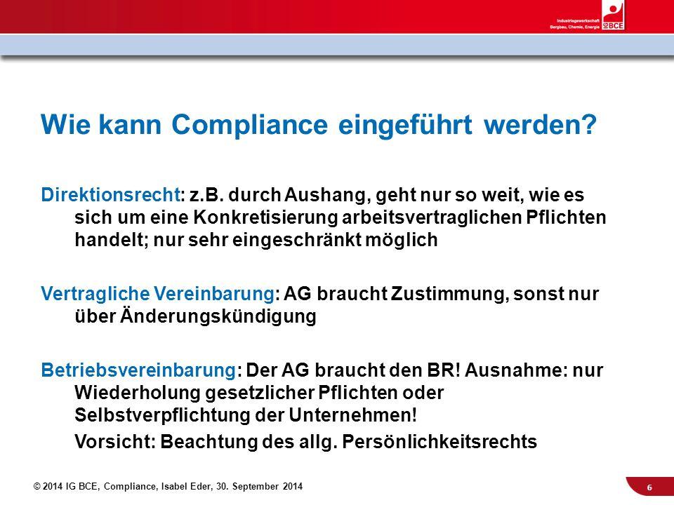 Wie kann Compliance eingeführt werden