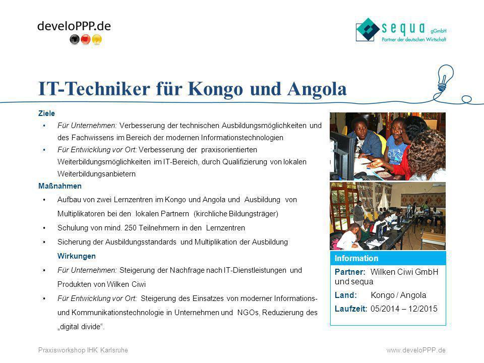 IT-Techniker für Kongo und Angola