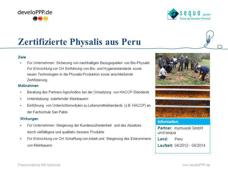Zertifizierte Physalis aus Peru