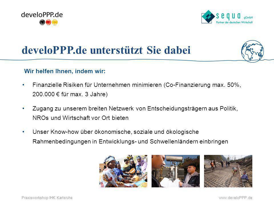 develoPPP.de unterstützt Sie dabei