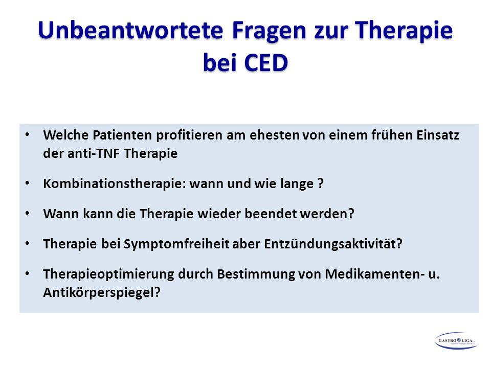 Unbeantwortete Fragen zur Therapie bei CED