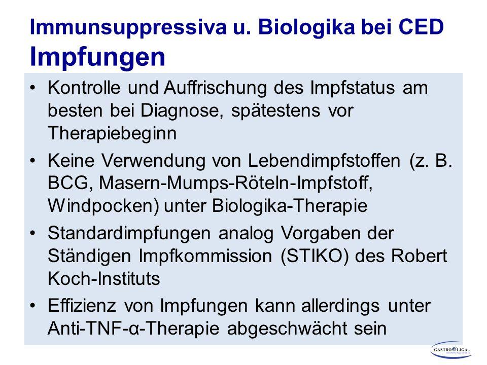 Immunsuppressiva u. Biologika bei CED Impfungen
