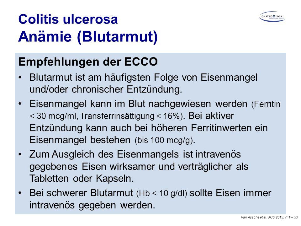 Colitis ulcerosa Anämie (Blutarmut)