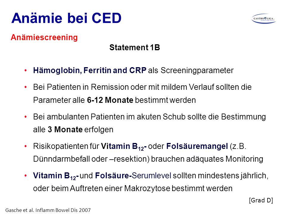 Anämie bei CED Anämiescreening Statement 1B