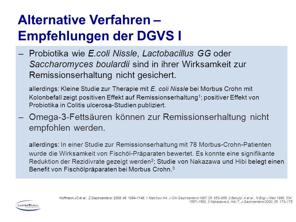 Alternative Verfahren – Empfehlungen der DGVS I