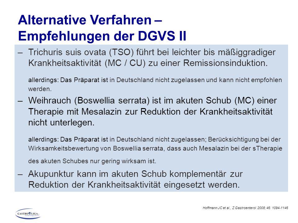 Alternative Verfahren – Empfehlungen der DGVS II