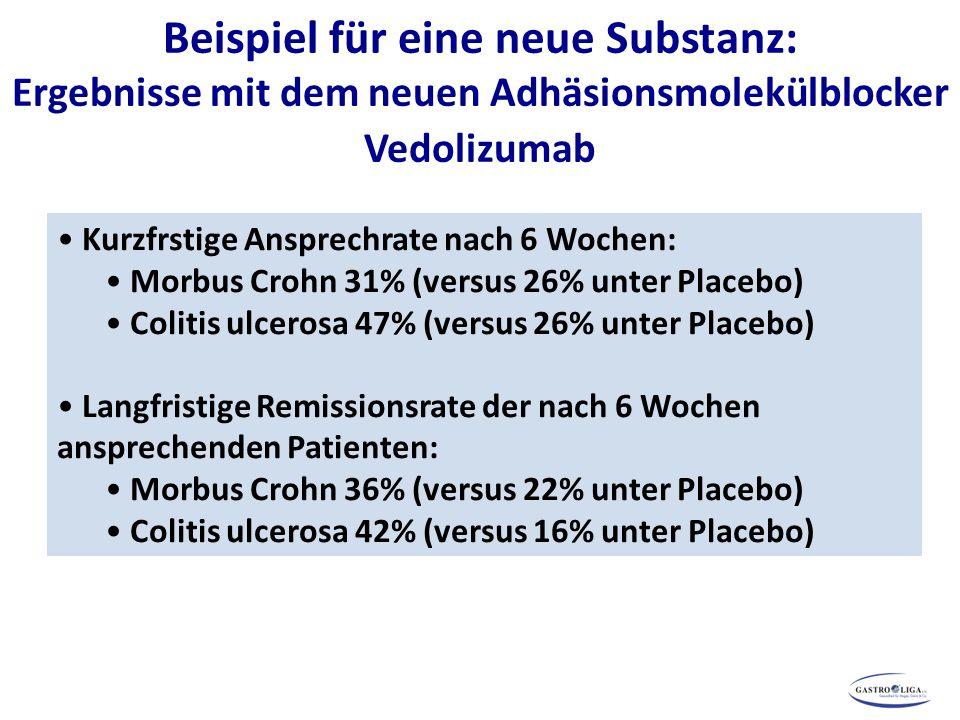 Beispiel für eine neue Substanz: Ergebnisse mit dem neuen Adhäsionsmolekülblocker Vedolizumab