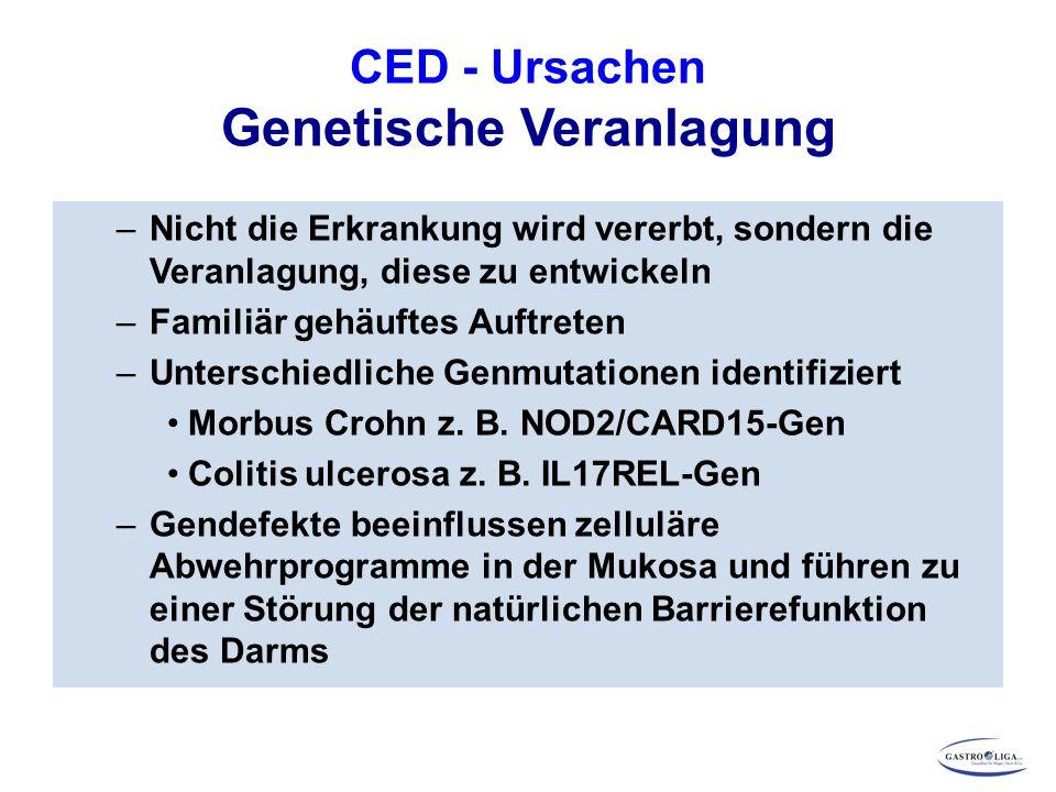 CED - Ursachen Genetische Veranlagung