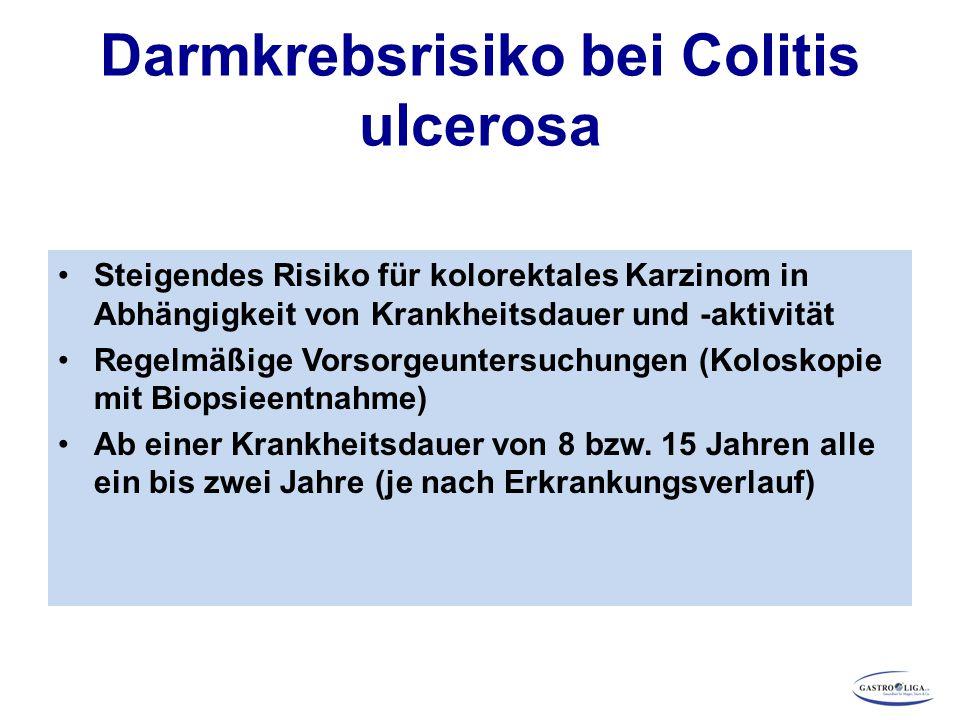 Darmkrebsrisiko bei Colitis ulcerosa