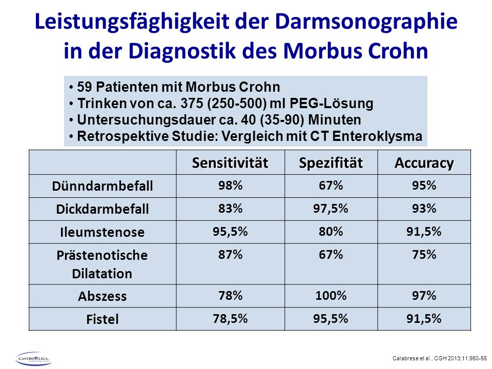 Leistungsfäghigkeit der Darmsonographie