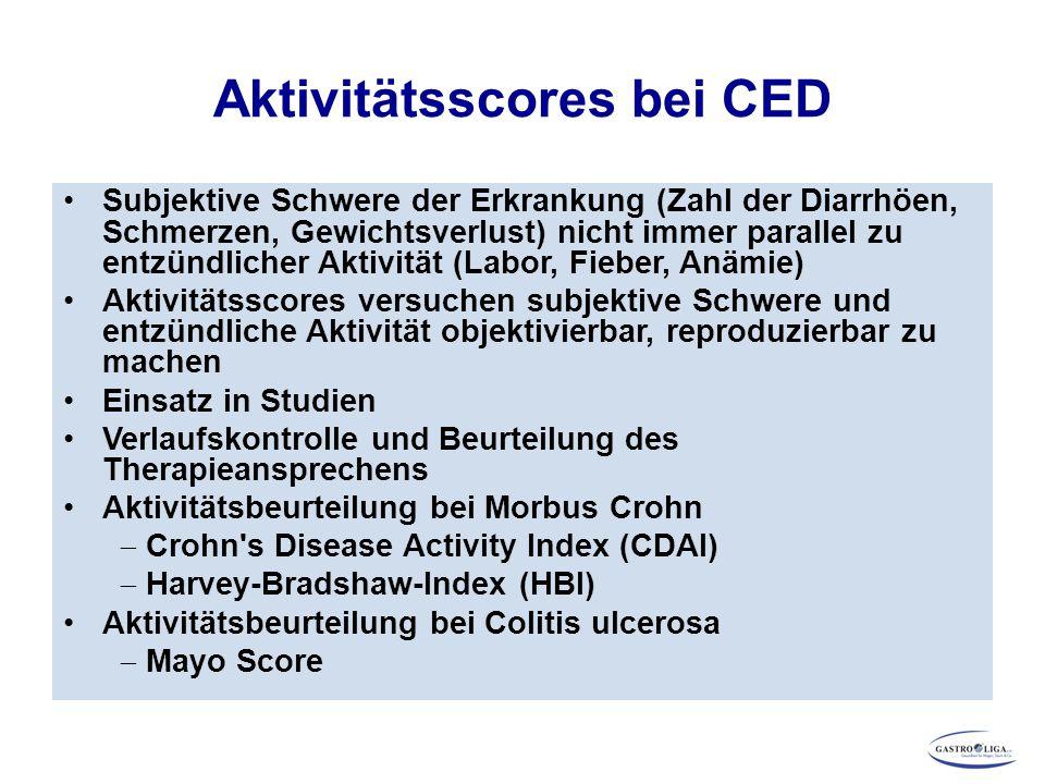Aktivitätsscores bei CED