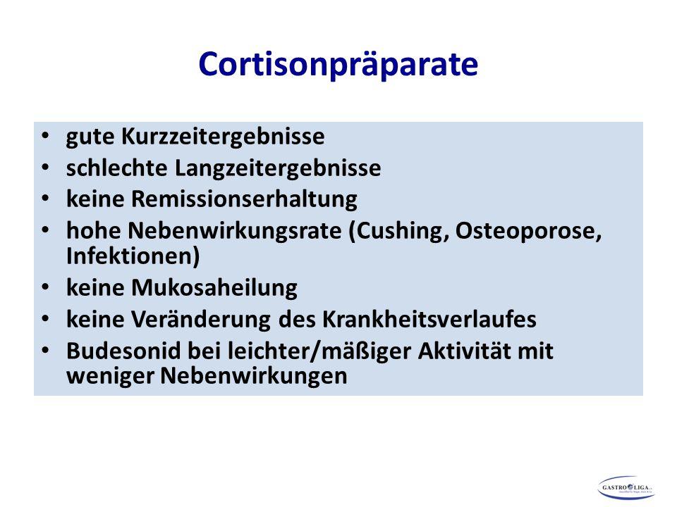 Cortisonpräparate gute Kurzzeitergebnisse schlechte Langzeitergebnisse
