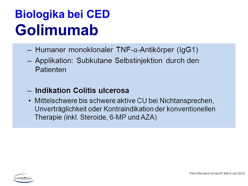 Biologika bei CED Golimumab