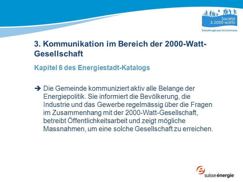 3. Kommunikation im Bereich der 2000-Watt-Gesellschaft