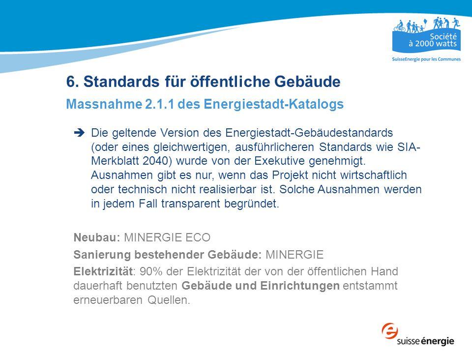 6. Standards für öffentliche Gebäude
