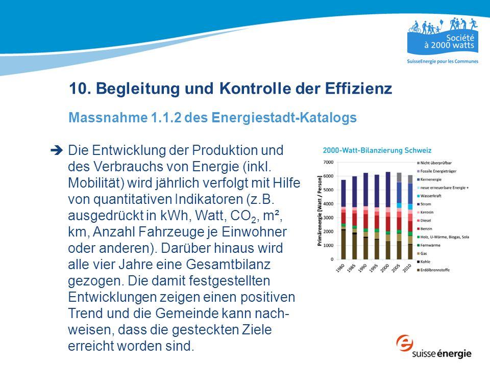 10. Begleitung und Kontrolle der Effizienz