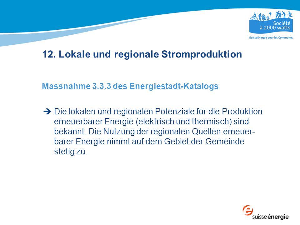 12. Lokale und regionale Stromproduktion