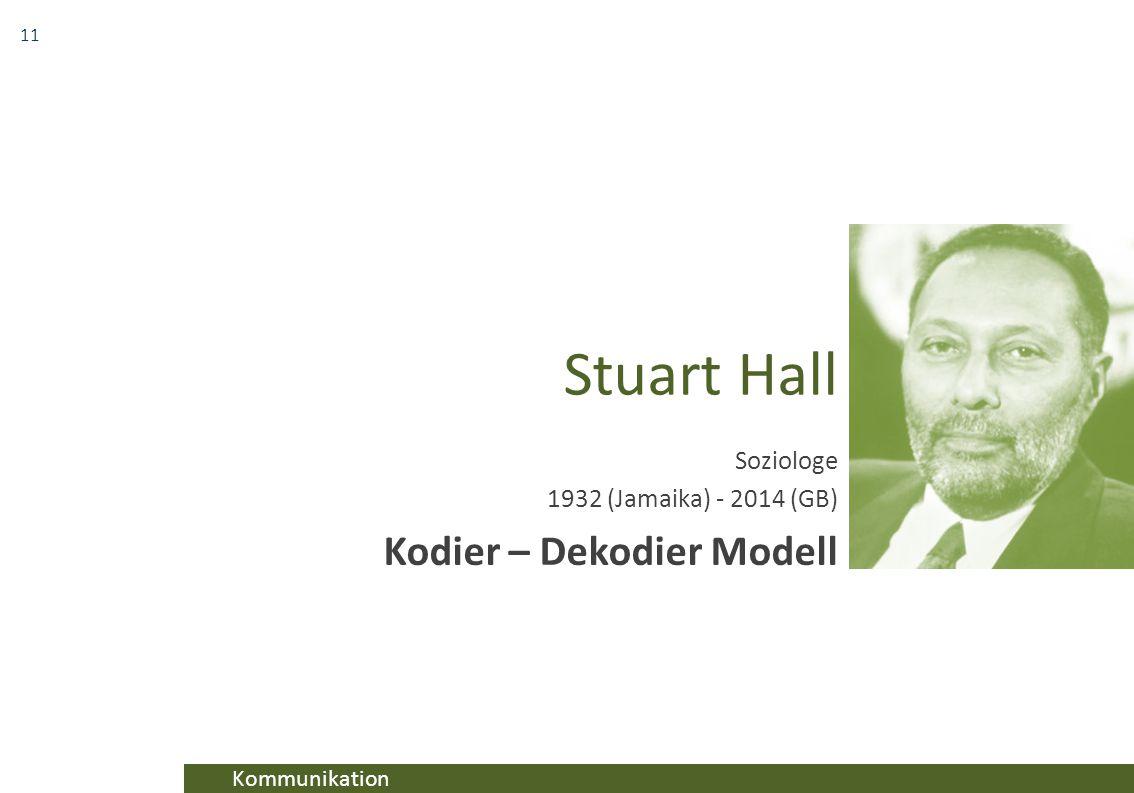 Soziologe 1932 (Jamaika) - 2014 (GB) Kodier – Dekodier Modell