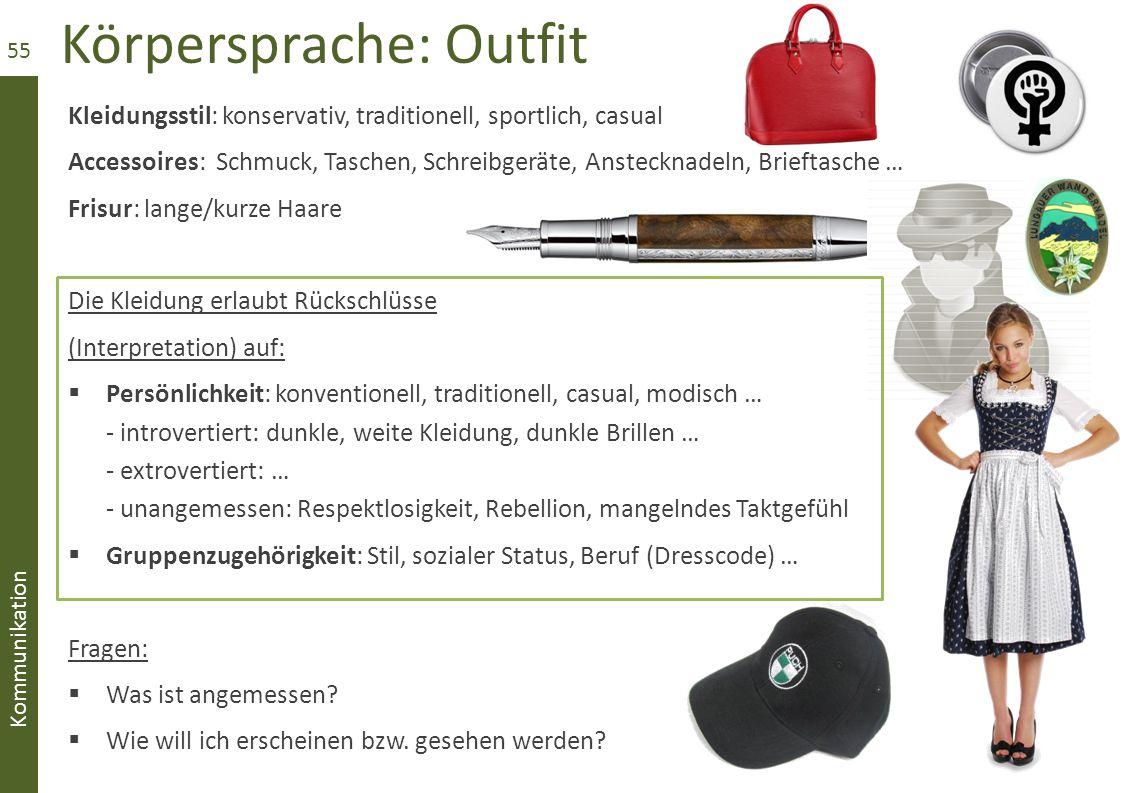 Körpersprache: Outfit