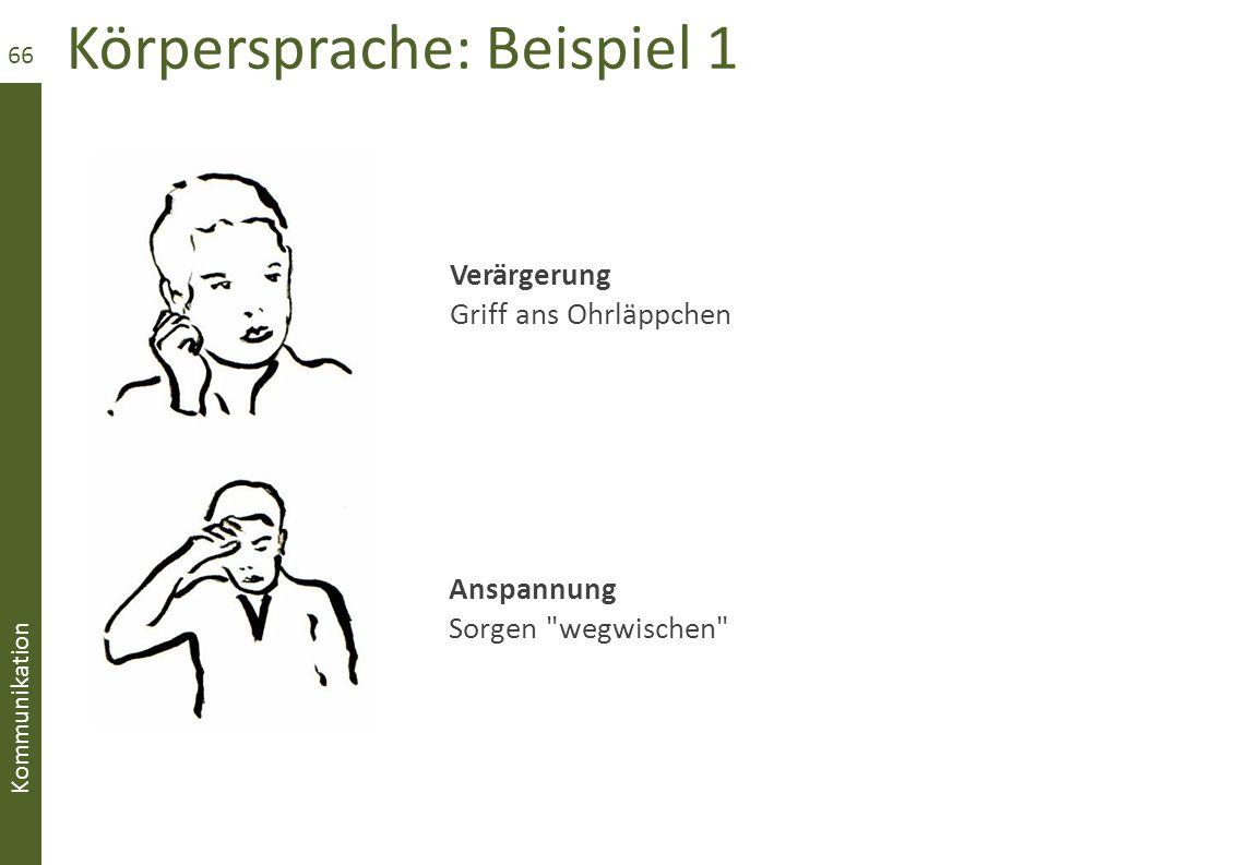 Körpersprache: Beispiel 1