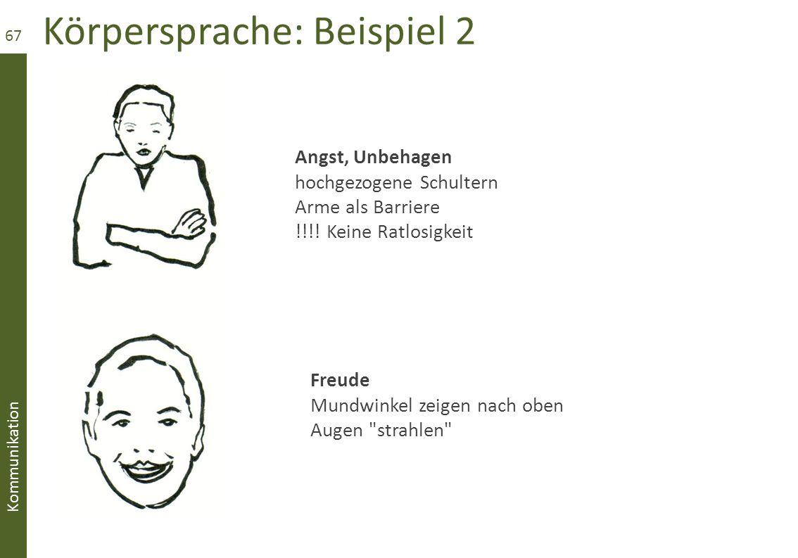 Körpersprache: Beispiel 2