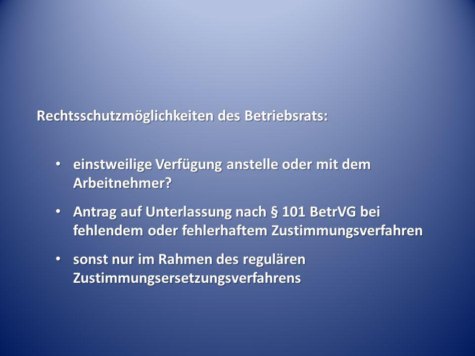 Rechtsschutzmöglichkeiten des Betriebsrats:
