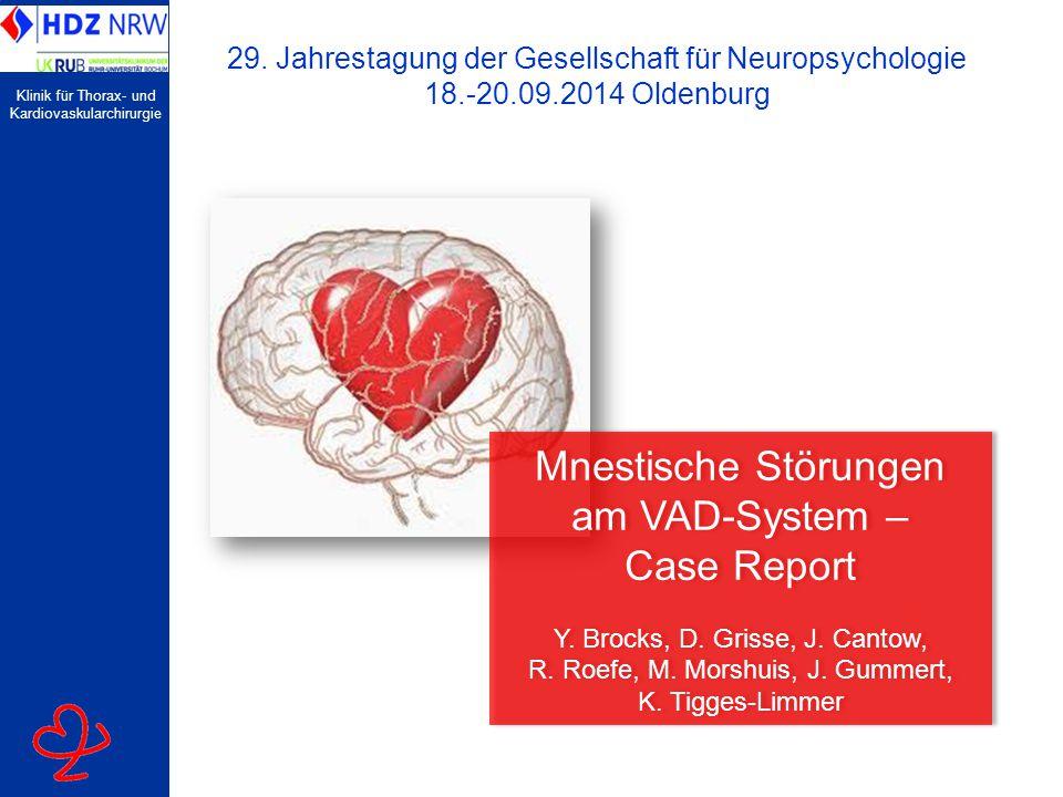 Mnestische Störungen am VAD-System – Case Report