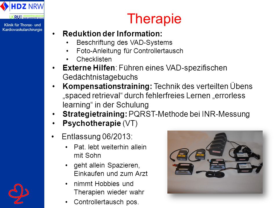 Therapie Reduktion der Information:
