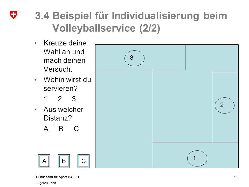 3.4 Beispiel für Individualisierung beim Volleyballservice (2/2)