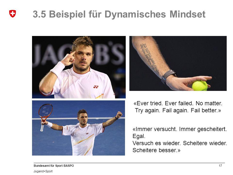 3.5 Beispiel für Dynamisches Mindset