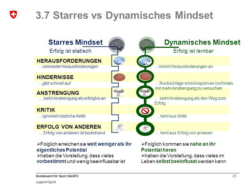 3.7 Starres vs Dynamisches Mindset