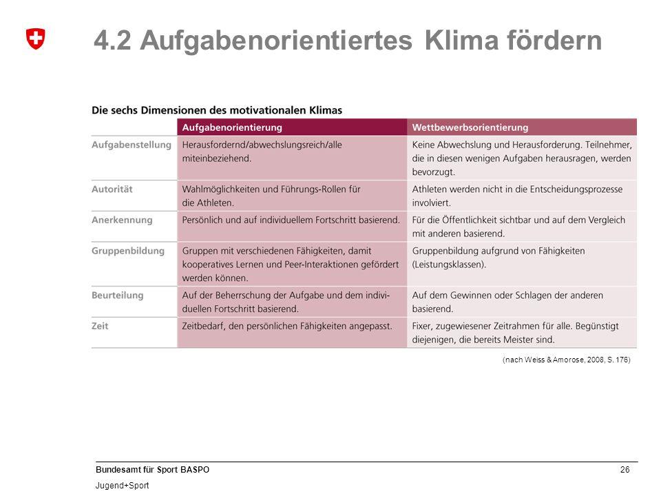 4.2 Aufgabenorientiertes Klima fördern