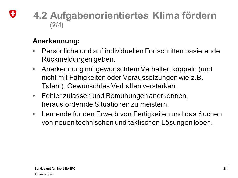 4.2 Aufgabenorientiertes Klima fördern (2/4)