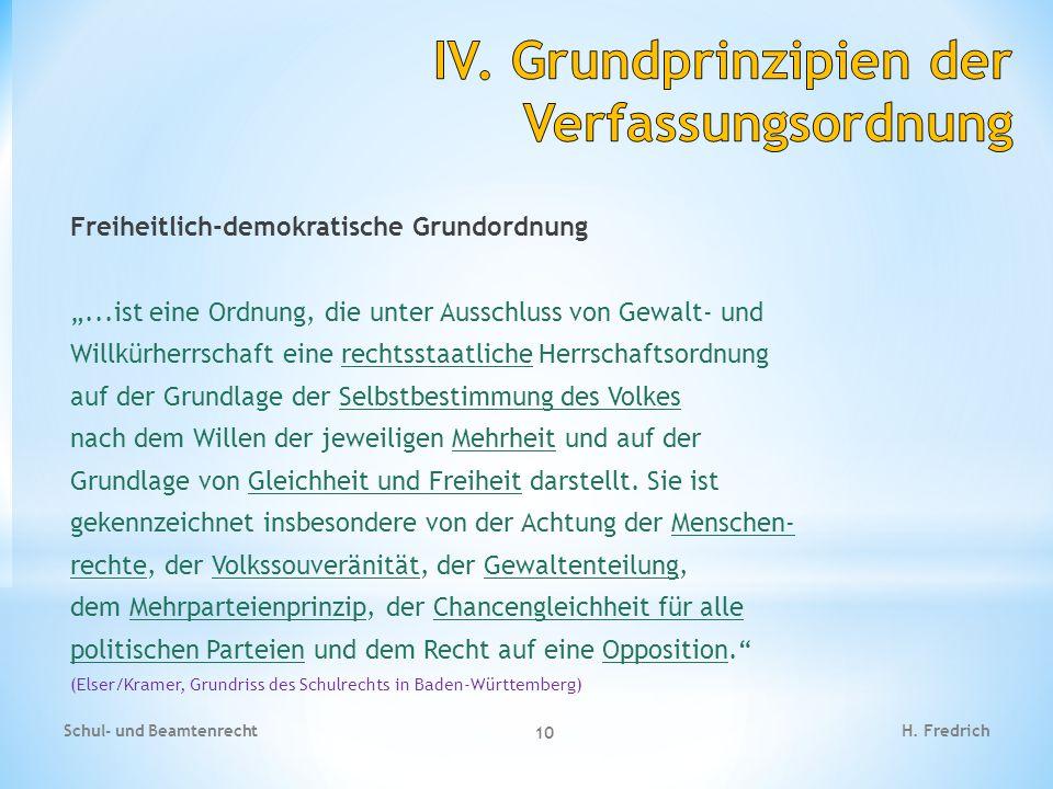 IV. Grundprinzipien der Verfassungsordnung