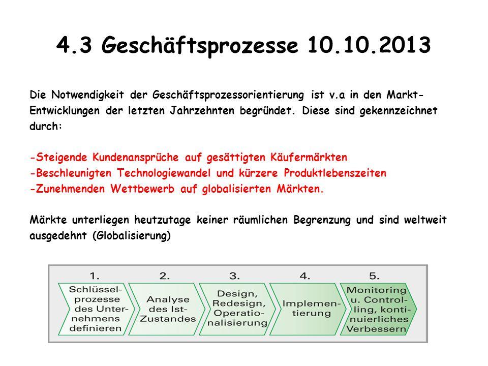 4.3 Geschäftsprozesse 10.10.2013