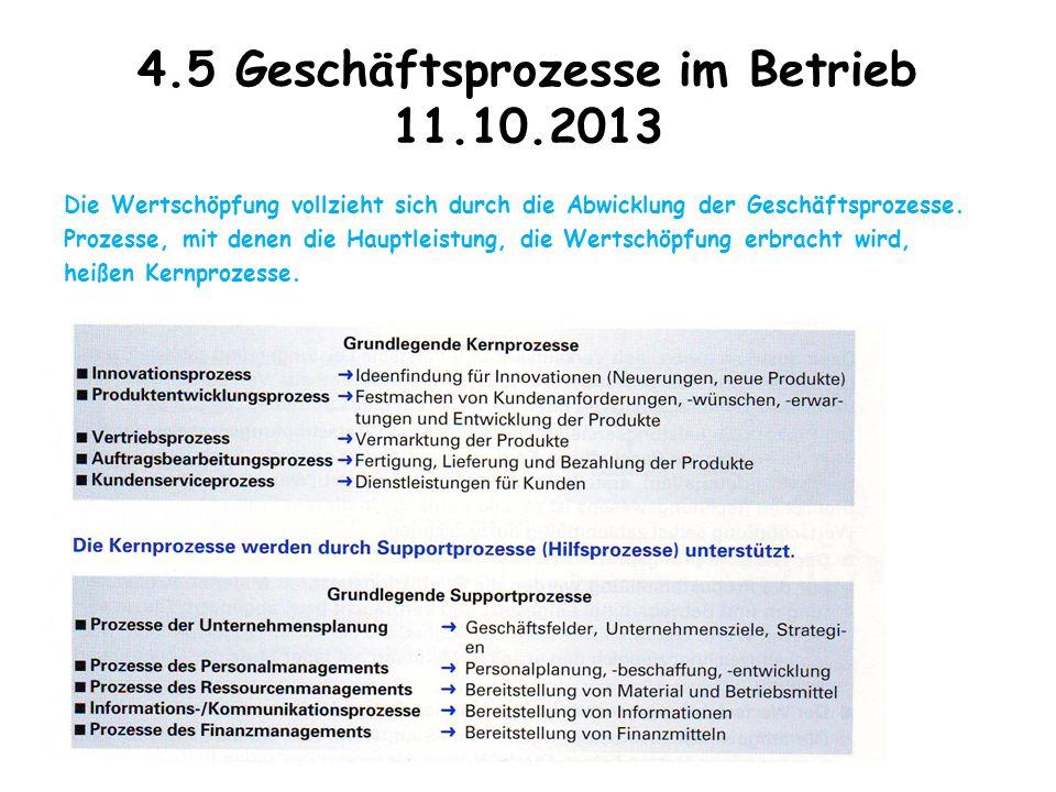4.5 Geschäftsprozesse im Betrieb 11.10.2013
