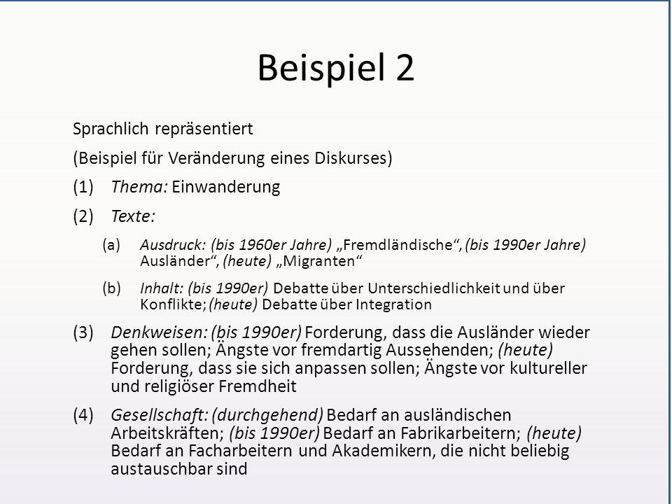 Beispiel 2 Sprachlich repräsentiert