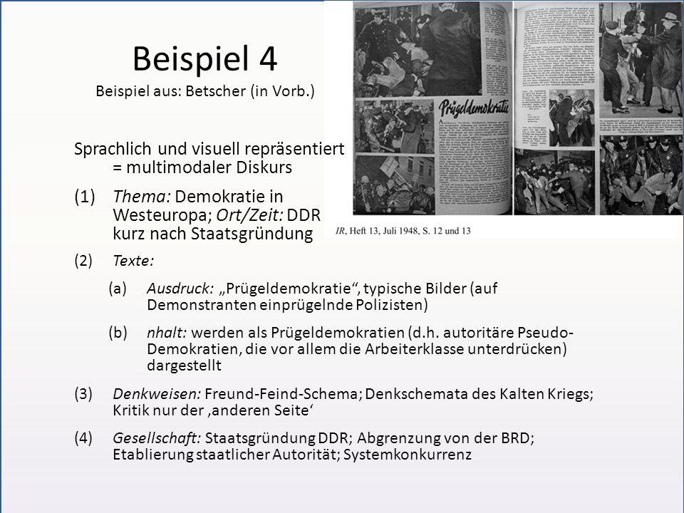 Beispiel 4 Beispiel aus: Betscher (in Vorb.)