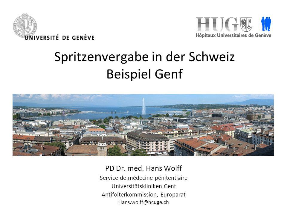 Spritzenvergabe in der Schweiz Beispiel Genf