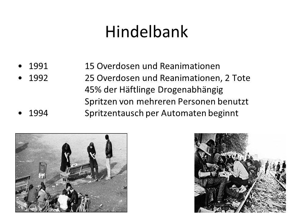Hindelbank 1991 15 Overdosen und Reanimationen