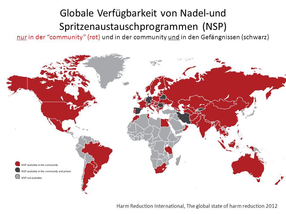 Globale Verfügbarkeit von Nadel-und Spritzenaustauschprogrammen (NSP)