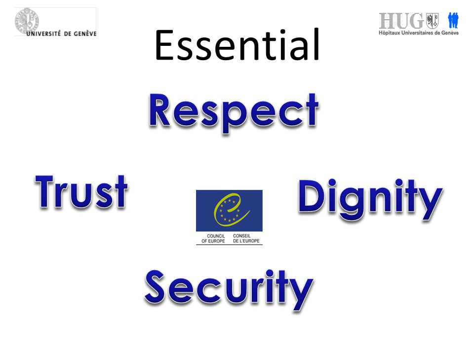Essential Respect Trust Dignity Security