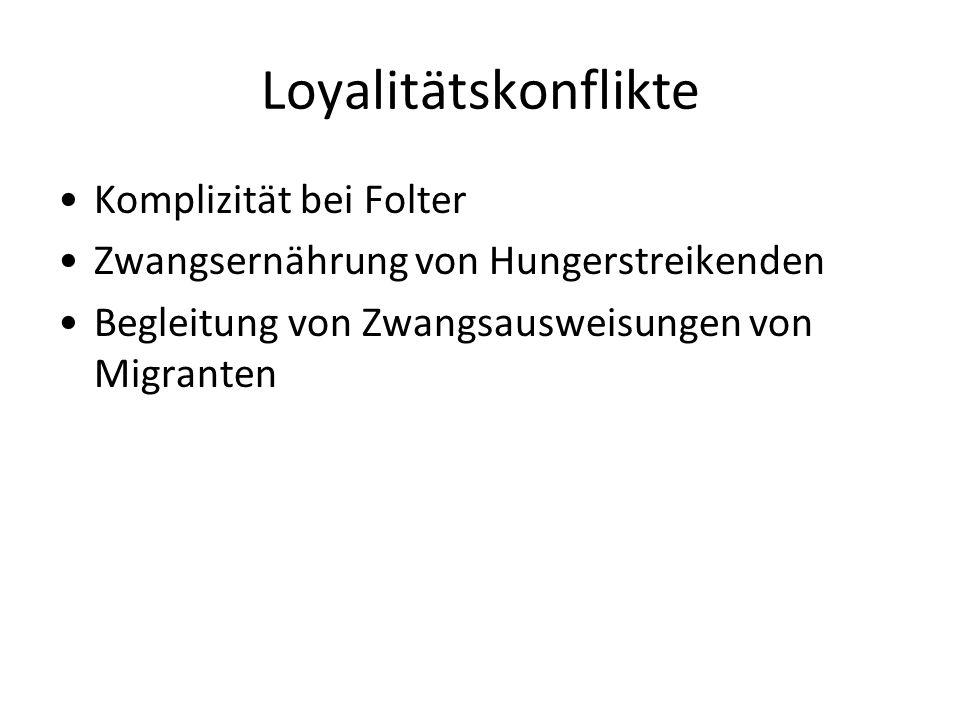 Loyalitätskonflikte Komplizität bei Folter