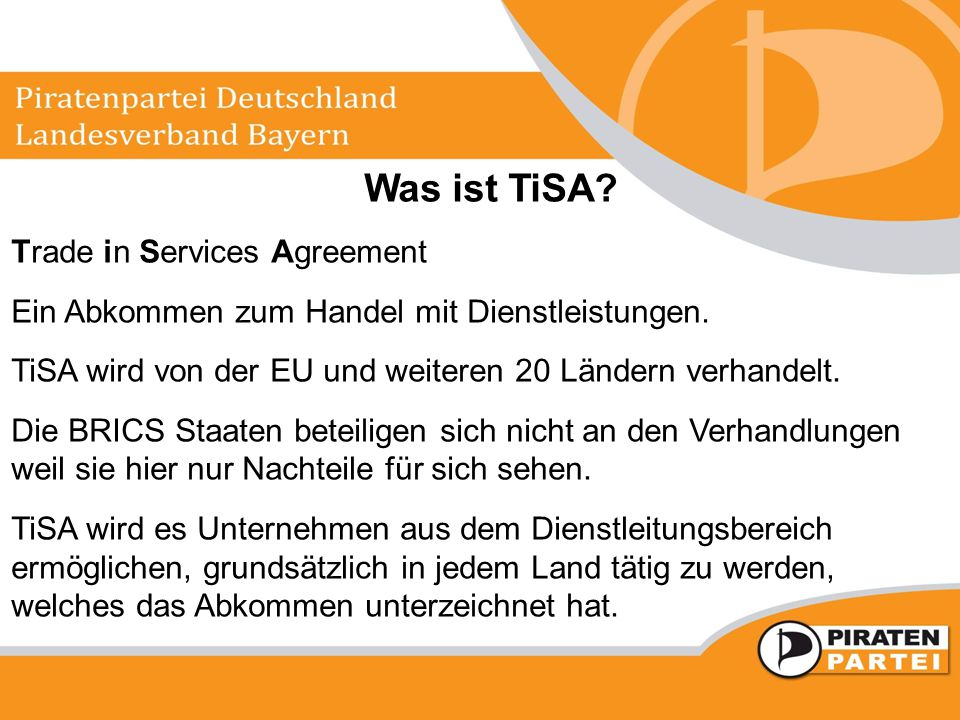 Was ist TiSA Trade in Services Agreement