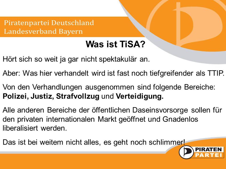 Was ist TiSA Hört sich so weit ja gar nicht spektakulär an.