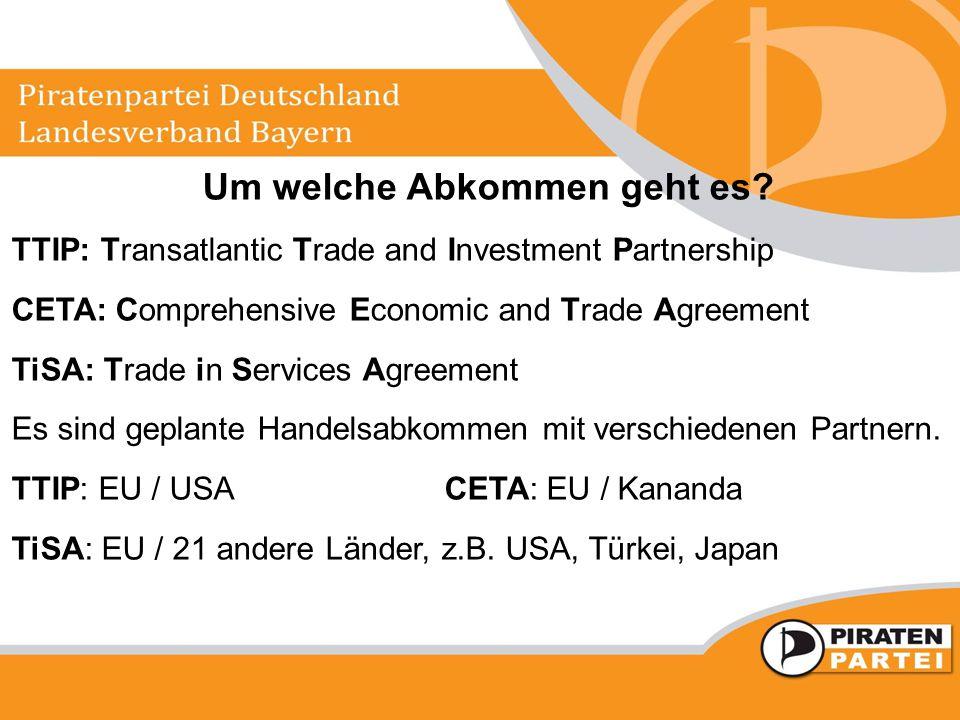 Um welche Abkommen geht es