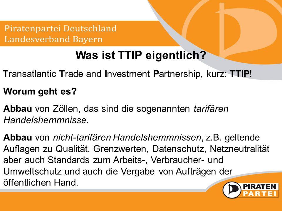Was ist TTIP eigentlich